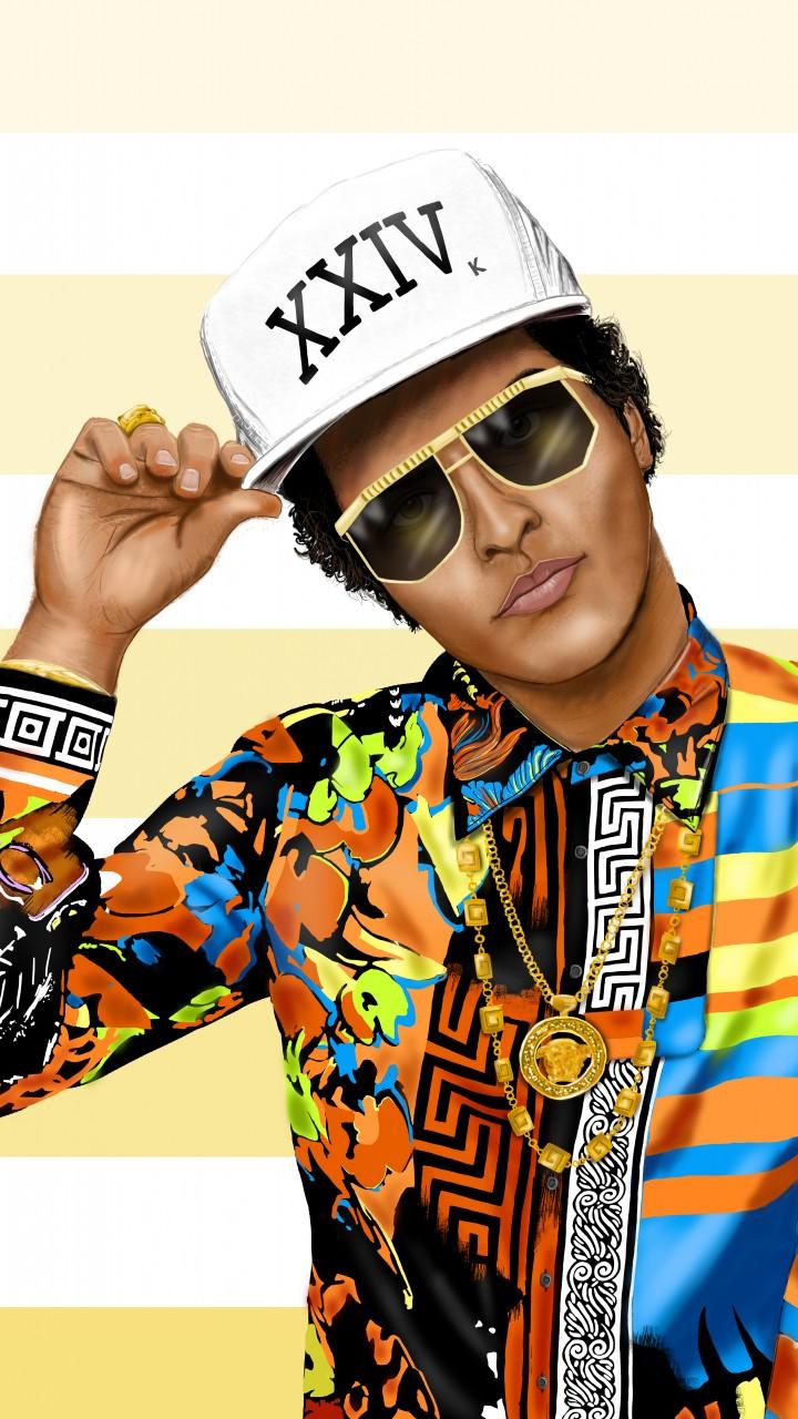 Bruno Mars Illustration 720x1280 Wallpaper Thewallpaperkid Com