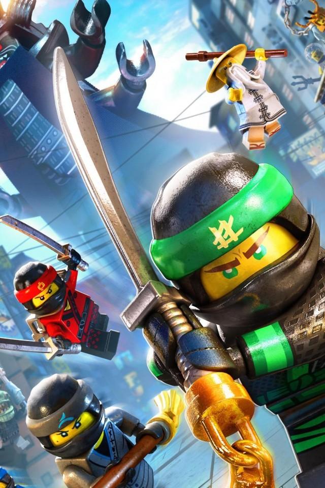 Lego Ninjago Street Fight Iphone 4 4s Ipod Wallpaper Thewallpaperkid Com