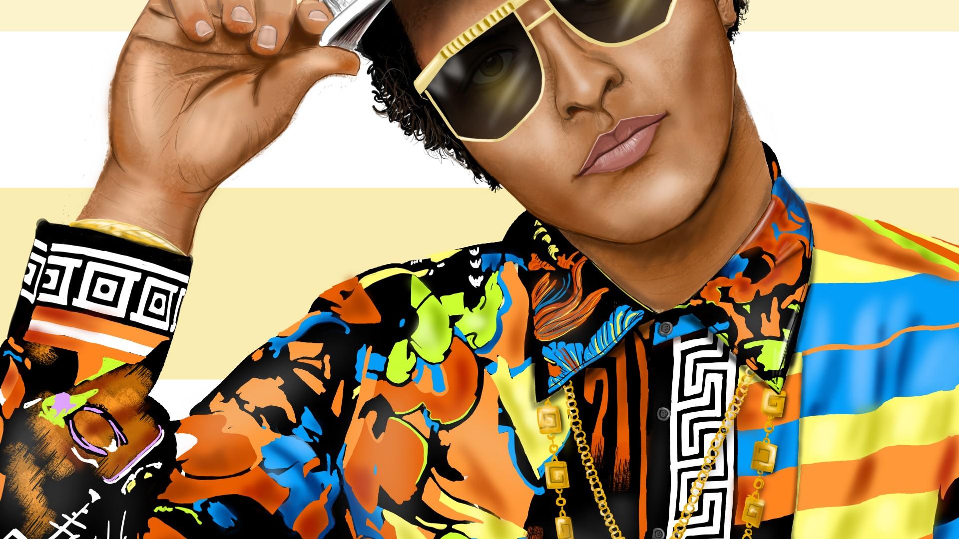 Bruno Mars Illustration 1920x1080 1080p Wallpaper Thewallpaperkid Com